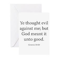 Genesis 50:20 Greeting Cards (Pk of 20)