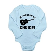 Guitar Weapon Of Choice Long Sleeve Infant Bodysui