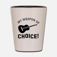 Guitar Weapon Of Choice Shot Glass