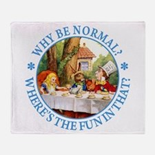 Why Be Normal? Throw Blanket