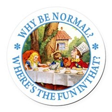 Why Be Normal? Round Car Magnet
