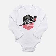 Hockey Girl (Pink) Long Sleeve Infant Bodysuit