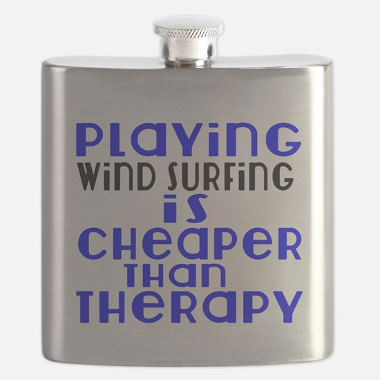 Wind Surfing Is Cheaper Than Therapy Flask