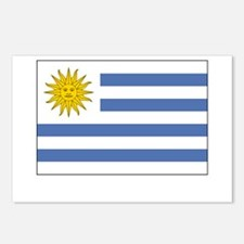 Uruguay Flag Picture Postcards (Package of 8)