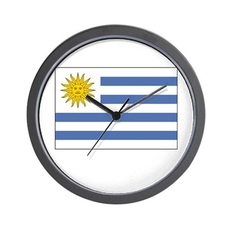 Uruguay Flag Picture Wall Clock