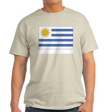 Uruguay Flag Picture Ash Grey T-Shirt