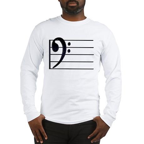 BASS CLEF STAFF- BLACK Long Sleeve T-Shirt