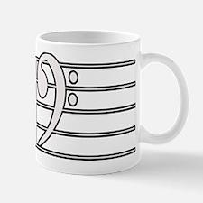 BASS CLEF STAFF- WHITE Mug