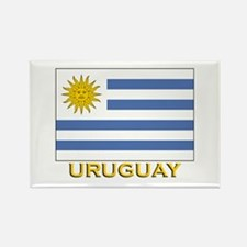 Uruguay Flag Stuff Rectangle Magnet