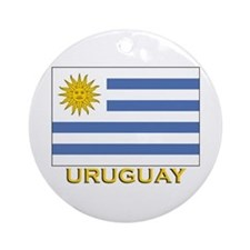 Uruguay Flag Stuff Ornament (Round)