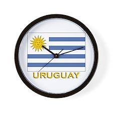 Uruguay Flag Stuff Wall Clock