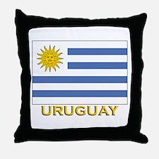Uruguay Flag Stuff Throw Pillow