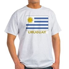 Uruguay Flag Stuff Ash Grey T-Shirt