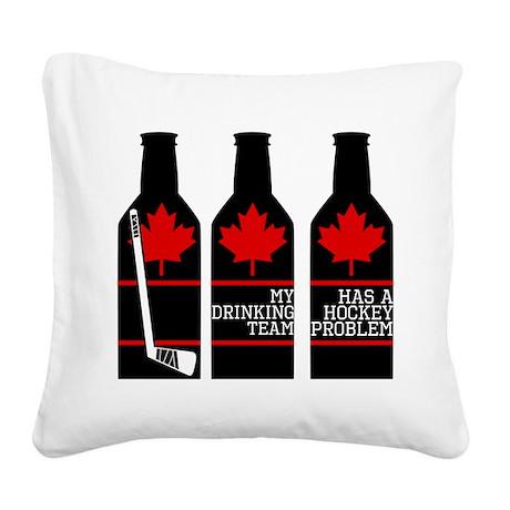 Hockey Problem Square Canvas Pillow