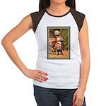 GIRL WITH PUG Women's Cap Sleeve T-Shirt
