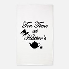 Tea Time at Hatters 3'x5' Area Rug