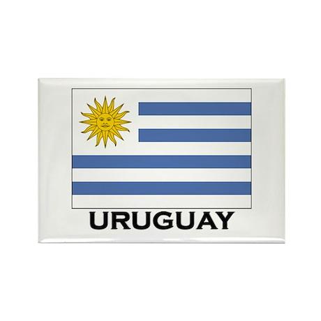 Uruguay Flag Merchandise Rectangle Magnet