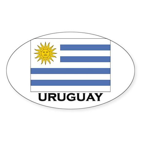 Uruguay Flag Merchandise Oval Sticker