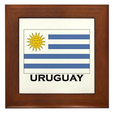 Uruguay Flag Merchandise Framed Tile