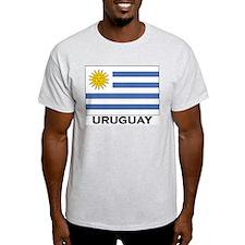 Uruguay Flag Merchandise Ash Grey T-Shirt