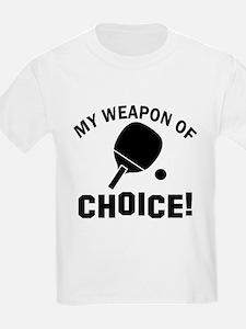 Table Tennis designs T-Shirt