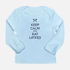 Keep Calm and Eat Latkes Long Sleeve Infant T-Shir