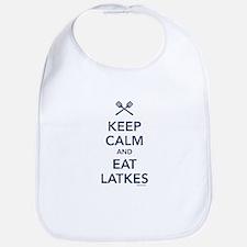Keep Calm and Eat Latkes Bib