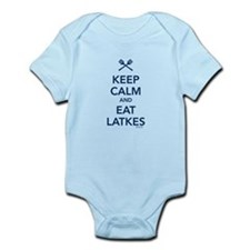 Keep Calm and Eat Latkes Infant Bodysuit