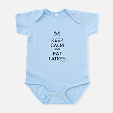 Keep Calm and Eat Latkes Infant Bodysuit