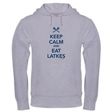 Keep Calm and Eat Latkes Jumper Hoody