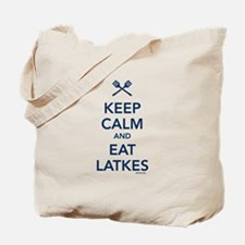 Keep Calm and Eat Latkes Tote Bag
