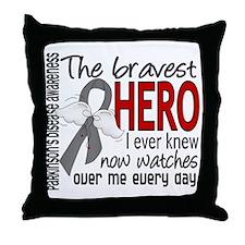 Bravest Hero I Knew Parkinsons Throw Pillow
