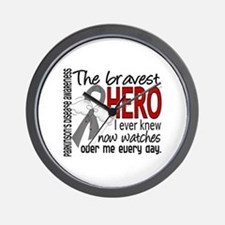 Bravest Hero I Knew Parkinsons Wall Clock