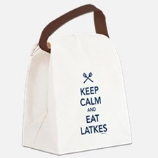 Keep Calm and Eat Latkes Canvas Lunch Bag