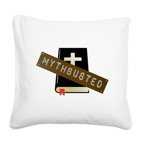 Mythbusted Square Canvas Pillow