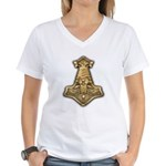 Mjolnir - Thors Hammer Women's V-Neck T-Shirt