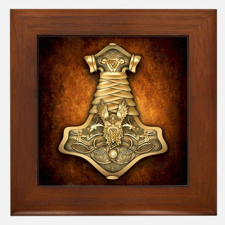 Mjolnir - Thors Hammer Framed Tile