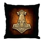 Mjolnir - Thors Hammer Throw Pillow