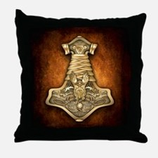 Mjolnir - Thors Hammer Throw Pillow