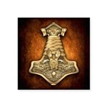 "Mjolnir - Thors Hammer Square Sticker 3"" x 3&"