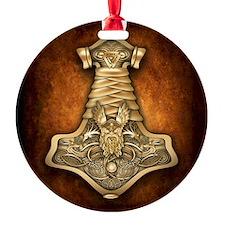 Mjolnir - Thors Hammer Round Ornament