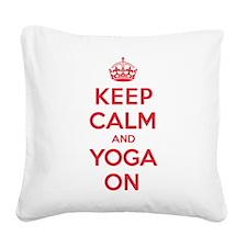 Keep Calm Yoga Square Canvas Pillow