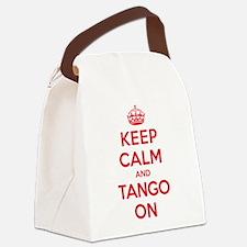Keep Calm Tango Canvas Lunch Bag