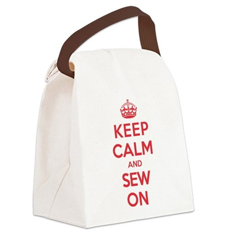 Keep Calm Sew Canvas Lunch Bag