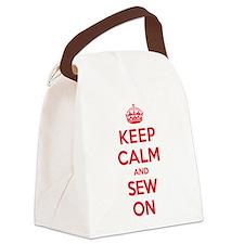Keep Calm Sew Canvas Lunch Bag