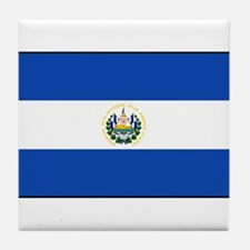 El Salvador - National Flag - Current Tile Coaster