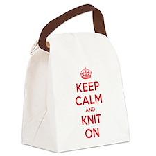 Keep Calm Knit Canvas Lunch Bag