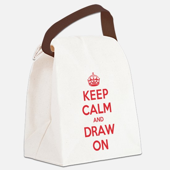 Keep Calm Draw Canvas Lunch Bag