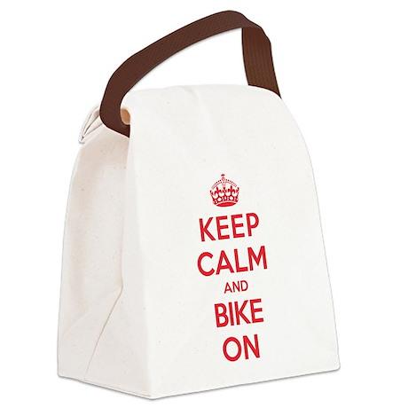 Keep Calm Bike Canvas Lunch Bag