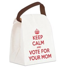 K C Vote Your Mom Canvas Lunch Bag